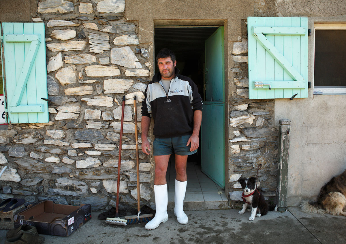 Shepherd and cheesemaker, southern France