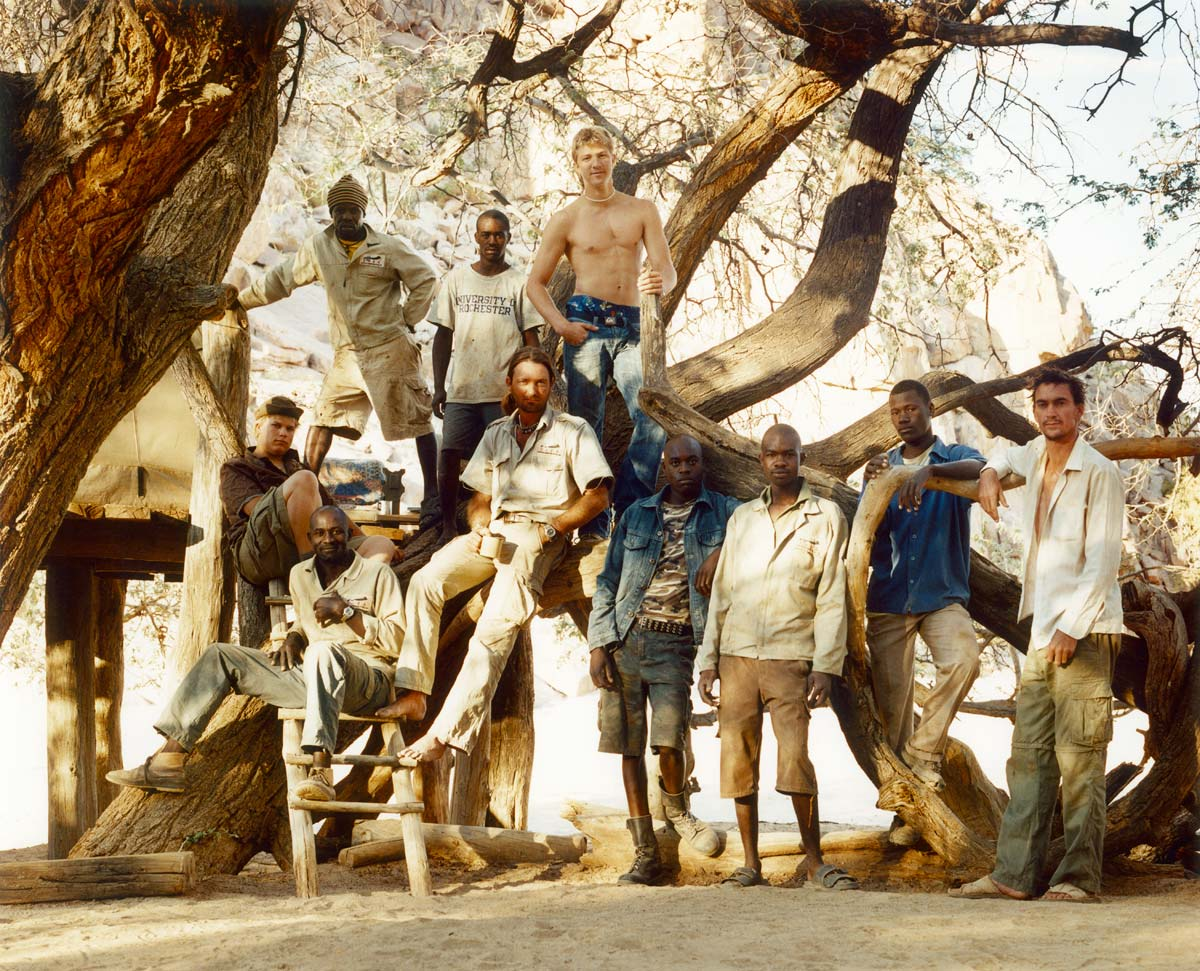 The crew of EHRA, Namibia