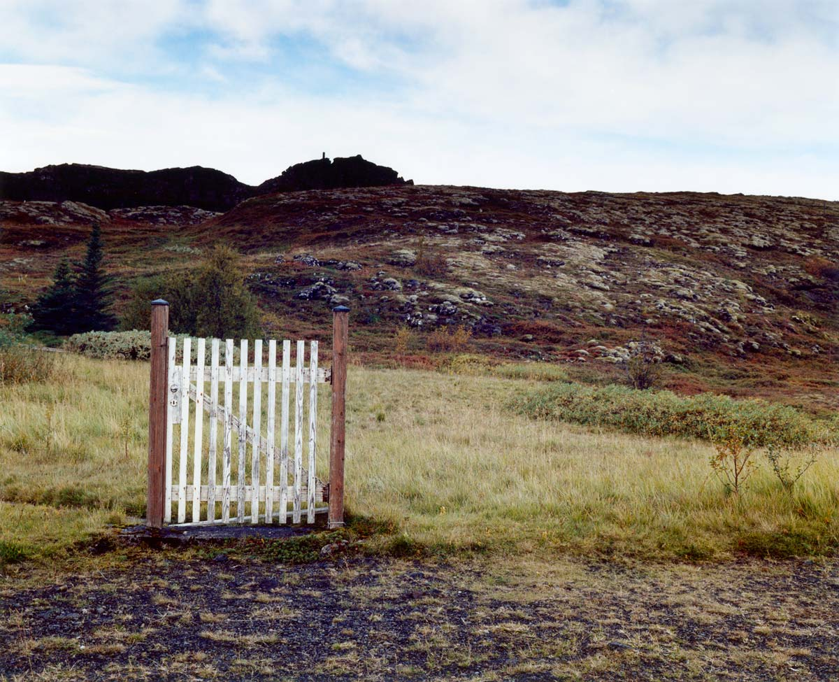 Gate with no fence, Iceland