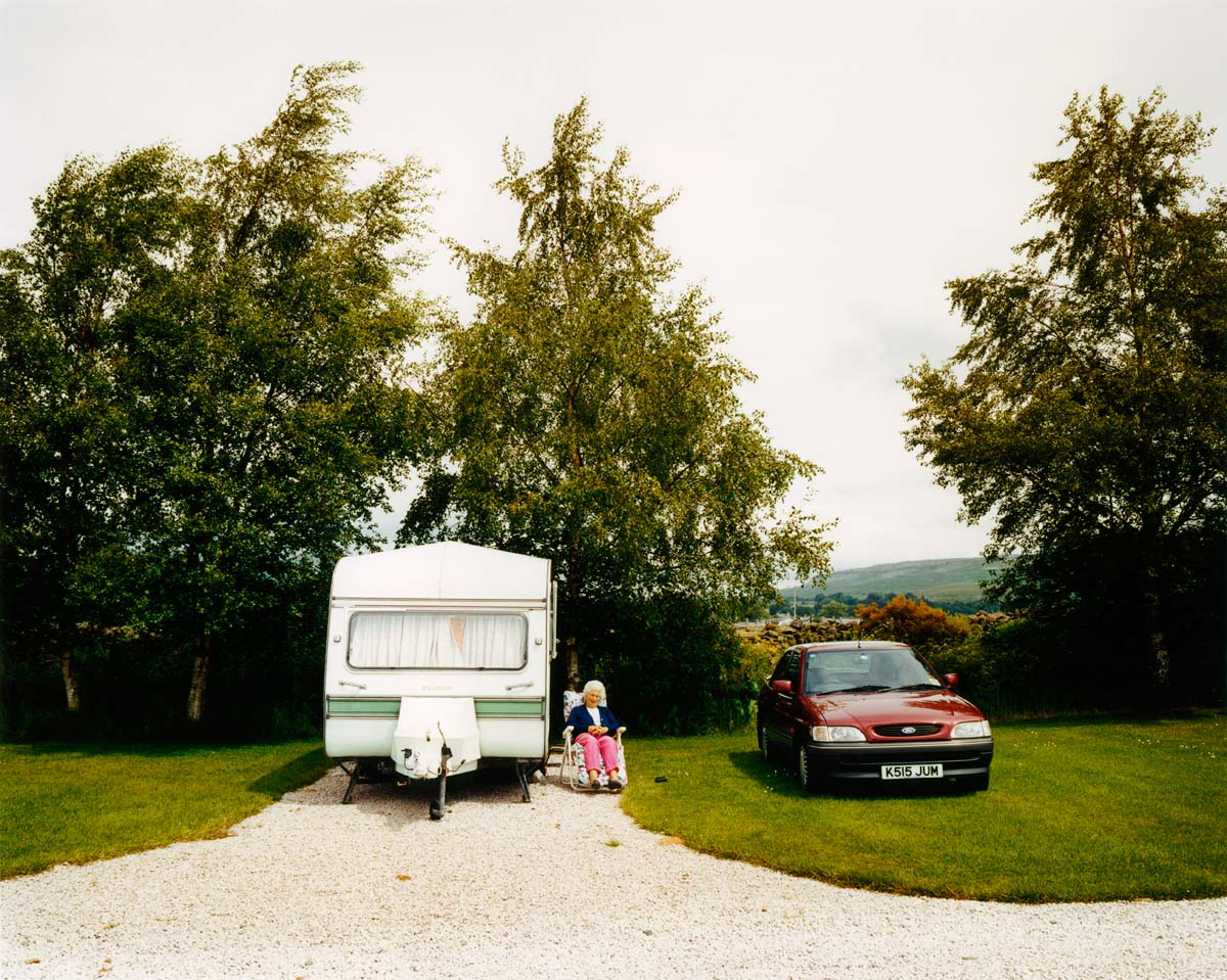 Margery and her caravan, Northern England